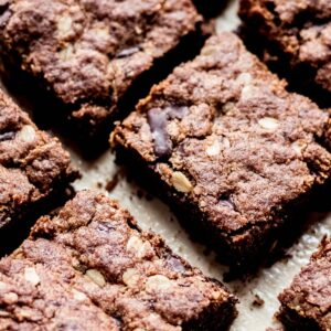 Chocolate Oatmeal Almond Butter Cookie Bars