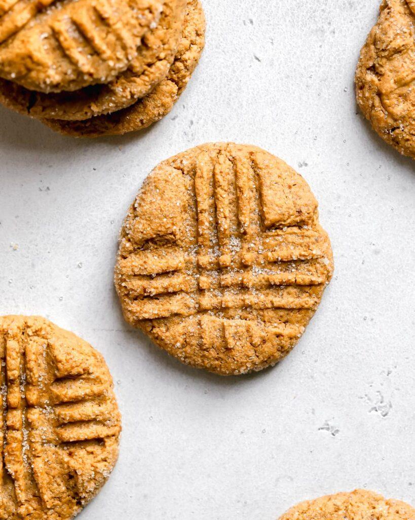 Healthier Peanut Butter Cookies, 4 cookies