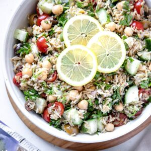 Mediterranean and Brown Rice Salad
