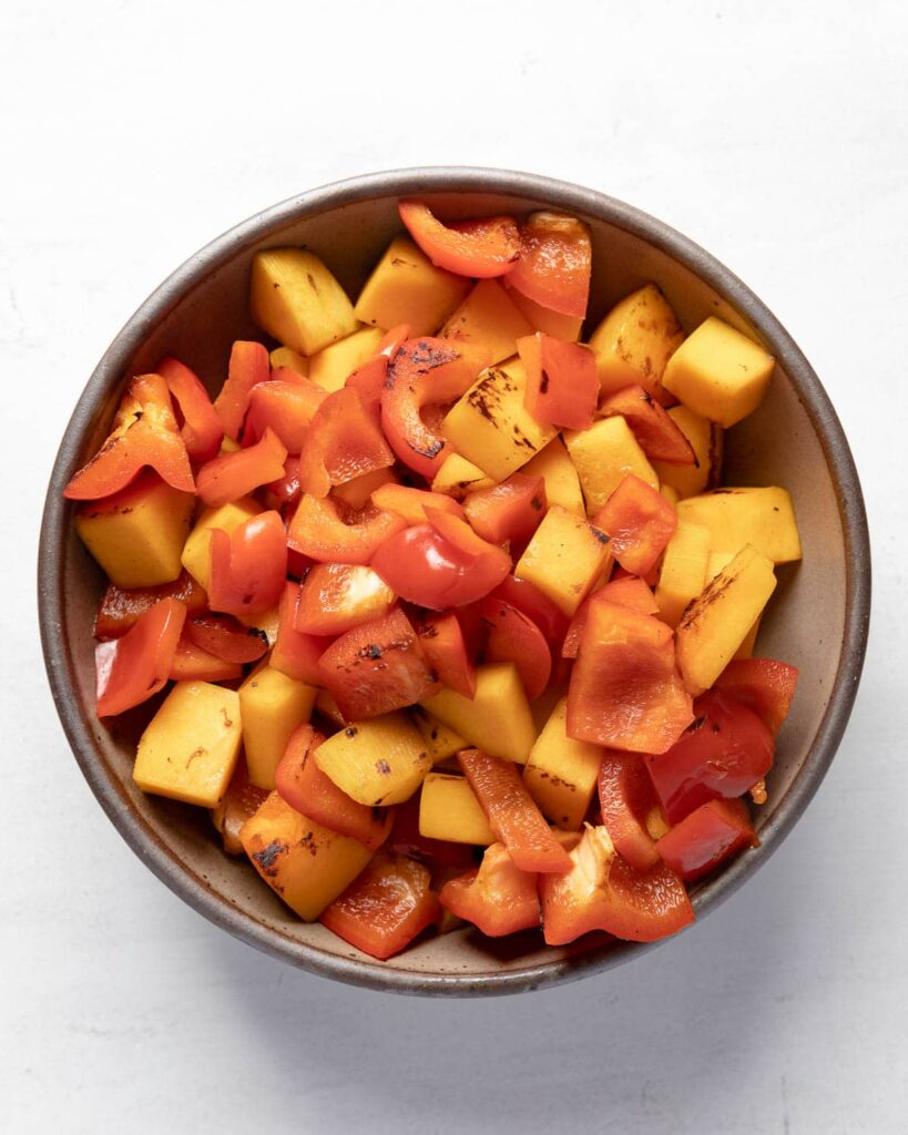 blistered red pepper and butternut squash
