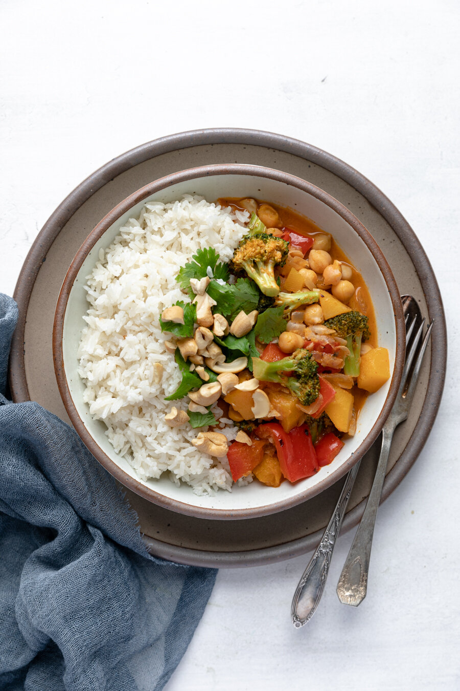 Butternut Squash Red Curry with Coconut Rice