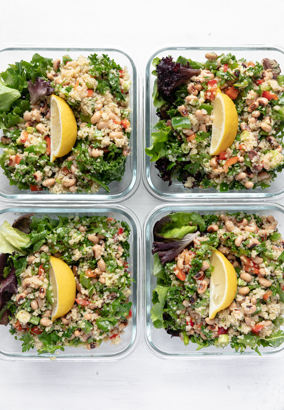 Easy Quinoa Salad Lunch Bowls