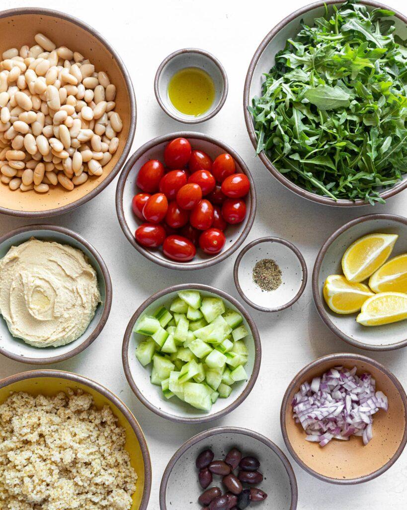 Mediterranean Bowl ingredients