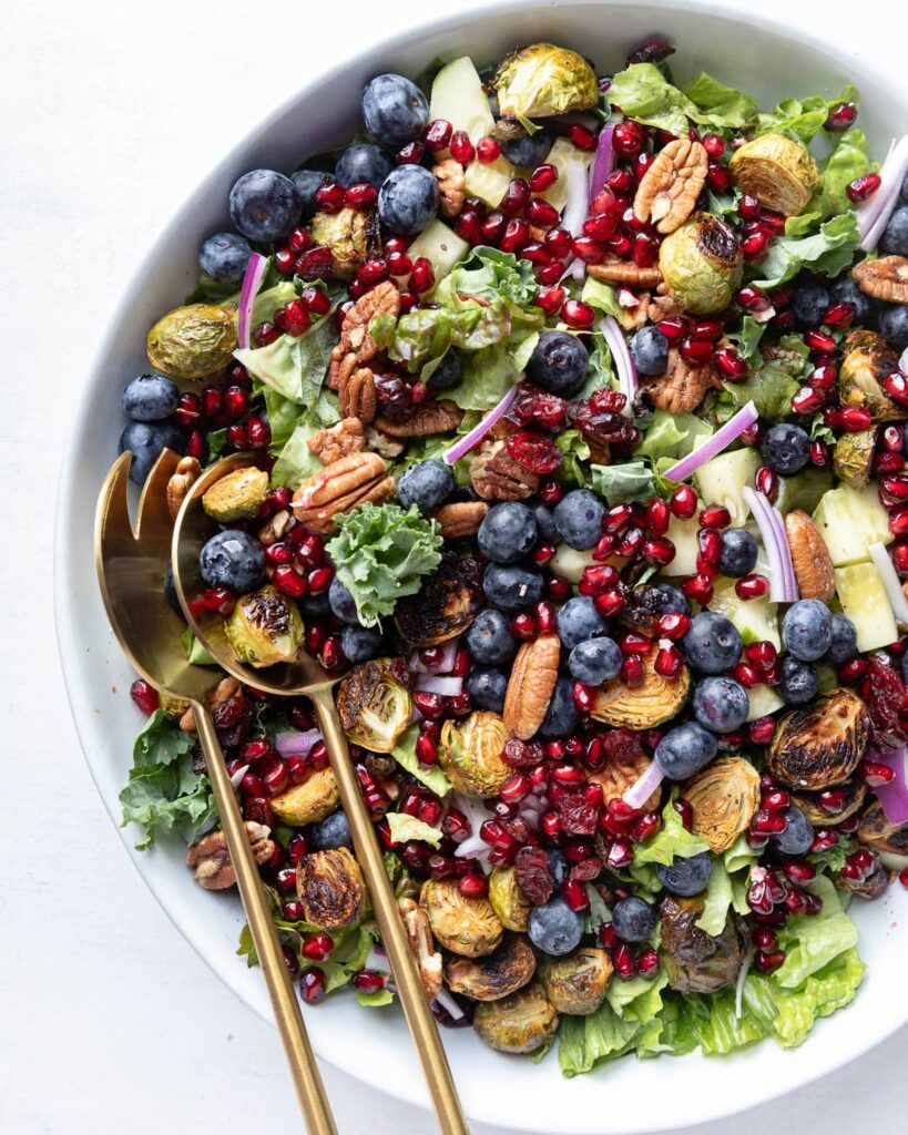 maple roasted brussels sprouts salad