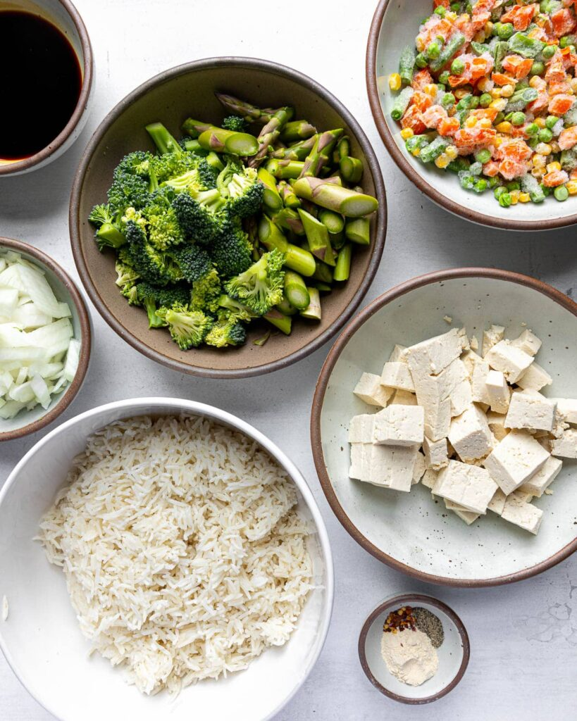 Not Fried Rice ingredients