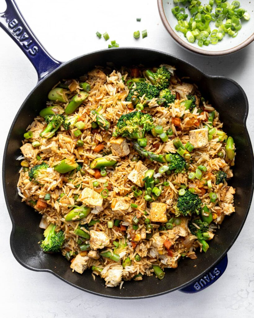 Not Fried Rice in pan