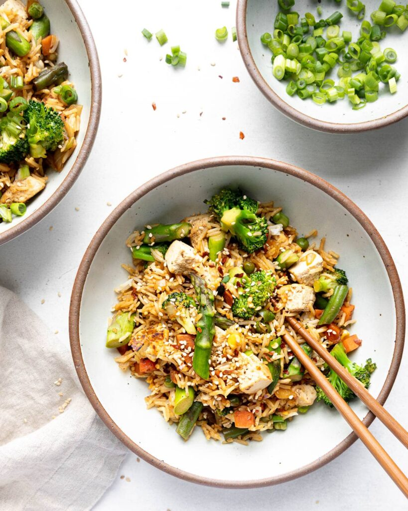 Not Fried Rice served in bowls