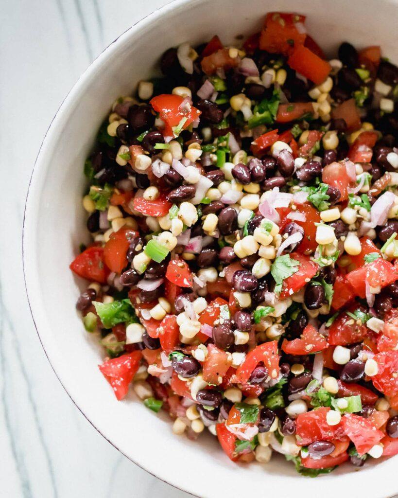 sweet corn and black bean salsa