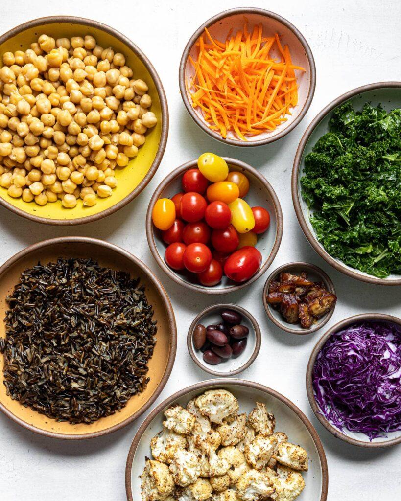 Mediterranean Bowls Ingredients